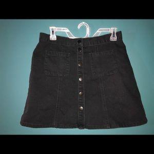 black jean mini skirt NWOT